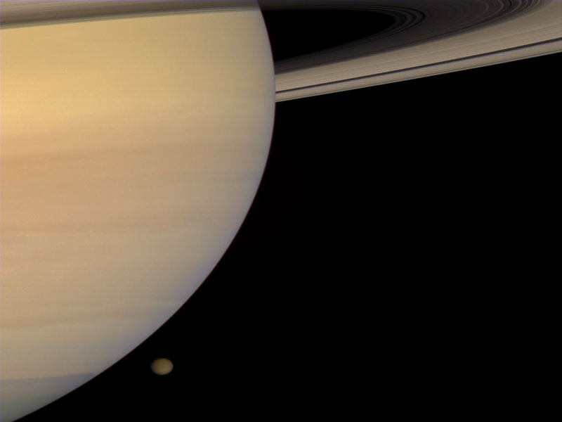 Saturn and Titan from Cassini